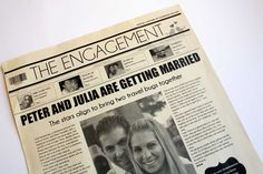 NewsFavor Wedding Newspapers - Custom Wedding Invitations | Wedding Planning, Ideas & Etiquette | Bridal Guide Magazine