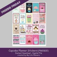 Free Printable Cupcake Planner Stickers from My Life Planners To Do Planner, Planner Tips, Free Planner, Planner Layout, Planner Pages, Happy Planner, 2015 Planner, Bujo, Planner Organization