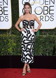 Heidi Klum aux Golden Globes 2017
