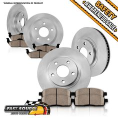 Cool amazing toyota oem rav4 2014 xle front brake pads 20172018 cool great front rear rotor ceramic pad fits 2002 2003 2004 2005 2006 nissan altima s fandeluxe Choice Image