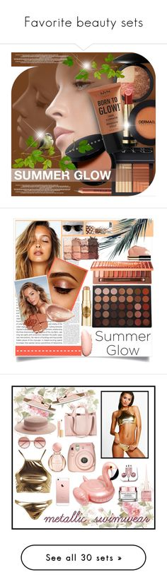 """""""Favorite beauty sets"""" by klm62 ❤ liked on Polyvore featuring beauty, NARS Cosmetics, Bobbi Brown Cosmetics, Laura Geller, Gucci, Dermablend, Morphe, Urban Decay, Jouer and Benefit"""