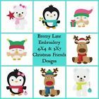 Christmas Friends 4X4 & 5X7 Embroidery Design Set on CD