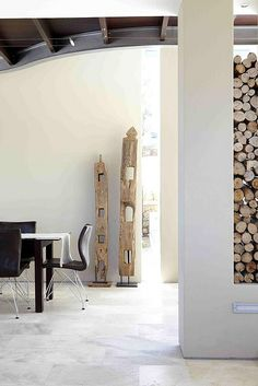 Could make something cool like this with driftwood or old gray posts from property
