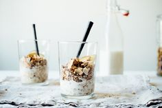 superfood granola + almond-macadamia milk / dollyandoatmeal