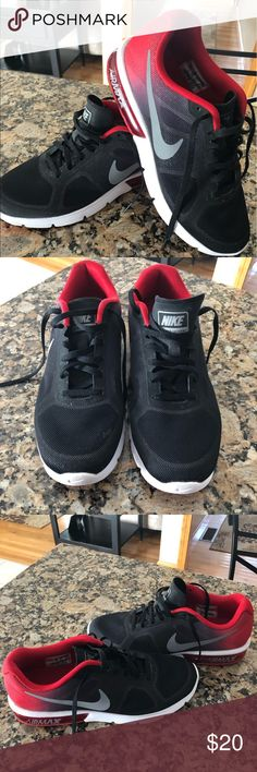 separation shoes 7e466 2fe18 Men s Nike Airmax Black and red Nike airmax Nike Shoes Sneakers