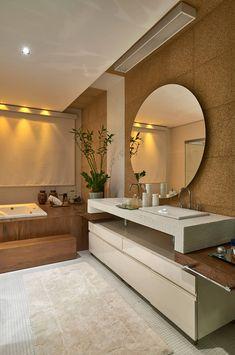 Salle de bain de style de style Moderne par Isabela Canaan Arquitetos e Associados Simple Bathroom Designs, Bathroom Design Luxury, Bathroom Interior, Unisex Bathroom Sign, Bathroom Design Inspiration, New Homes, House Design, Interior Design, Basins