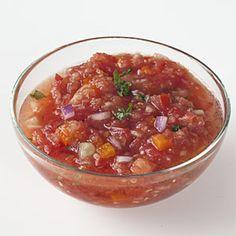 Easy prep, super taste! Bethenny's Light Gazpacho | MyRecipes.com