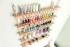 Thread holder rack