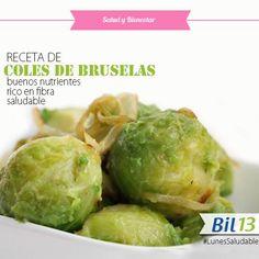 Hoy te indicamos una RECETA SALUDABLE: COLES DE BRUSELAS a la Lionesa. ¡Anímate a probarlas! Bil 13 Facilita la digestión.  #LunesSaludable #SaludyBienestarBagó #Bil13