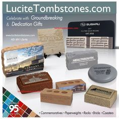 Custom Groundbreaking Ceremonial Gifts, Dedication Awards, Shovels, Bricks & Custom molded replicas! Promote your business, event, organization, announcement or milestone with our custom classic awards. http://lucitetombstones.com 401-841-5646 #groundbreaking #ceremony #groundbreakingceremony #dedication #grandopening #invitation #event #savethedate #dealtoys #construction #realestate #propertymanagement #acrylicawards  #deskawards #goodwill
