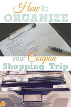 How to organize your coupon shopping trip!