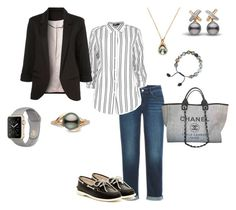 """""""Untitled #76"""" by melissa-crager-thornhill on Polyvore featuring Boohoo, Chanel, Sperry, Armenta and Pearls Before Swine"""