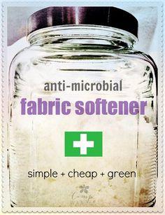 DIY Anti-Microbial Fabric Softener