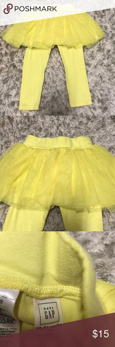 Gap Kids Yellow Tulle Skirt Legging Duo Great condition! Gap Kids Yellow Tulle Skirt Legging Duo. Size 18-24 Months GAP Bottoms Leggings