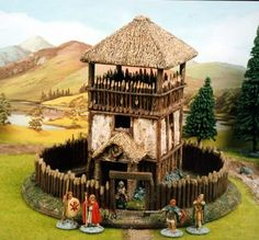 Raised timber framed watch tower