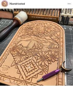 Leather Carving, Leather Art, Sewing Leather, Leather Pattern, Tooled Leather, Custom Leather, Leather Design, Leather Tooling, Leather Jewelry