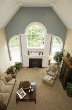 A view from above - two story great room