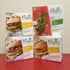 New look and flavors from @drpraegers. Let's see how they taste! #wholefoodsmag #wholefoodsmagazine #veggieburgers #dontmindifido