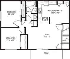 2 Bedroom Apartment Over Garage Plans   Google Search More