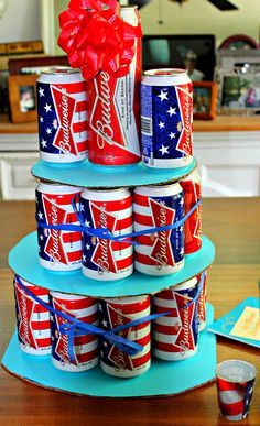 Budweiser Beer Cake! #beercake