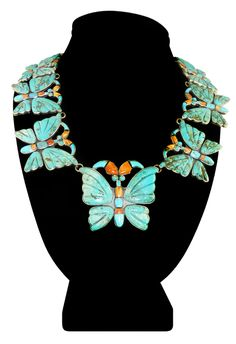 Necklace | Federico Jimenez. Sterling silver, Turquoise and Spondylus.