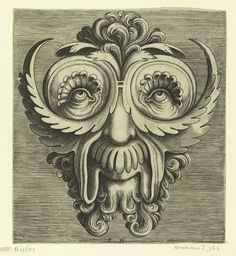 Flemish Mask Designs in the Grotesque Style (1555) Flemish engraver Frans Huys