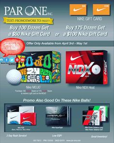 NIKE CLOSEOUT EQP http://ift.tt/1TqGfPk  text:PROMOSWORK to:95577  #golf #golfer #golfball #nike #nike #promos #giftcard #advertising #ad #golfcourse #resort