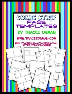 Use these comic strip page templates for creative assignments for your students. They can be used to assign comic/cartoon strips about the unit you are studying, a biography for an author or historical figure, or a creative book report. Teaching Writing, Writing Activities, Teaching Resources, Kids Writing, Creative Writing, Comic Strip Template, Comic Strips, Cartoon Template, Classroom Freebies