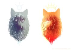 Moon&Sun by Marta Sokolowska, via Behance