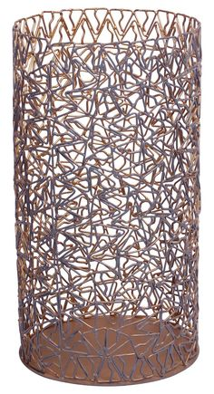 Round-Shaped Flower Vase – Cast in Iron – Copper Color Finish – Triangle Motifs – Interior Decorating Items – Table-Top Accessories – Home / Office Décor -Buy in Bulk Wholesale Home Decor Vases, Home Decor Items, Home Office, Soapstone, Metal Flowers, Copper Color, Handmade Home Decor, Flower Vases, Decoration
