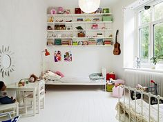 white kids room eclectic
