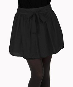 Take a look at this Black Silk-Blend Skirt by Tulle on #zulily today!