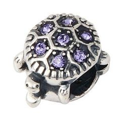 Everbling Turtle with Purple Austrian Crystal February Birthstoe Authentic 925 Sterling Silver Bead Fits Pandora Chamilia Biagi Troll Charms Europen Style Bracelets  Price : $19.99 http://www.everblingjewelry.com/Everbling-Austrian-Birthstoe-Authentic-Bracelets/dp/B00FBVERRA