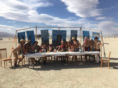 "6,945 Likes, 37 Comments - Burning Man (@burningman) on Instagram: ""Photo by @Shookmyselffree ""The Last Supper."" #burningman #blackrockcity #brc"""
