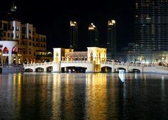 Bridge over golden waters..