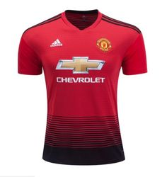 Men s Manchester United 2018 2019 Home soccer Jersey – red f2768adea