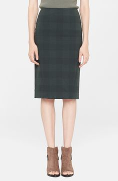 rag & bone plaid pencil skirt.