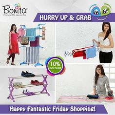 For all bargain hunters, here is the right time to shop for Bonita's Home Utility Products as its raining discounts at Bonita this festive season. Avail 10% discount on Bonita's one-of-a-kind Laundry, Organising & Storage products. Hurry, The Deal is Getting Hotter! #fridayshopping #festivediscount #amazingoffer