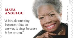 Maya Angelou Forever Stamp is unveiled