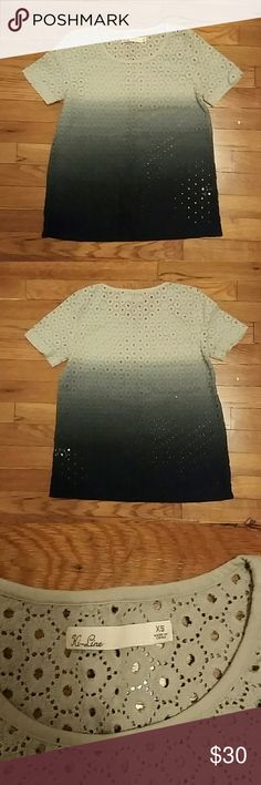 Hi-Line for Madewell blue ombre eyelet top Lovely ombre eyelet top from Madewell. 100% Cotton. Worn gently only a few times. Madewell Tops Blouses