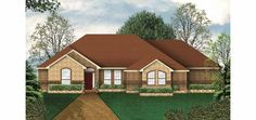 New American House Plan with 2420 Square Feet and 5 Bedrooms(s) from Dream Home Source | House Plan Code DHSW33002