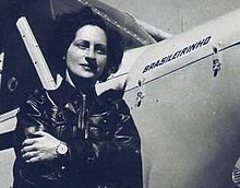 Ada Rogato (1920-1986), Brazilian aviator, first Brazilian woman to hold a paratrooper certification; also flew cropdusters to protect the Brazilian coffee crop.