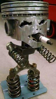 Robot Piston ⚾️⚽️ Man Cave Ideas : More At FOSTERGINGER @ Pinterest   ⚾️⚽️