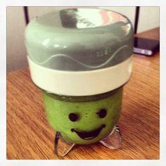 Made homemade baby food today! So fun! #babybullet #organic #peas #babyfood