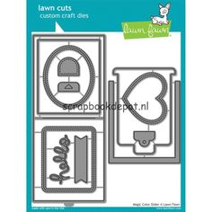 Scrapbookdepot - Lawn Fawn Cuts Custom Craft Die - Magic Color Slider - LF1438 - Lawn Fawn - Lawn Fawn