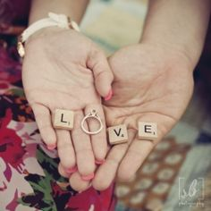 Scrabble engagement pic...awesome!