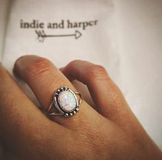 Thank you @jessicababy07 for sharing this pic of your @indieandharper Navajo Opal Ring ♥️ Hope you LOVE it babe ♥️ www.indieandharper.com