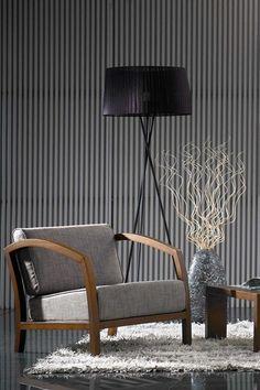 Brown/Grey Modern Accent Chair @scrapwedo