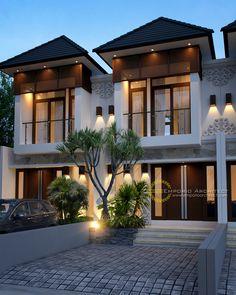 29 New Ideas modern landscape design architecture facades Small House Design, Modern House Design, Stone House Plans, Duplex Design, Townhouse Designs, Modern Floor Plans, Landscape Architecture Design, Facade House, Classic House