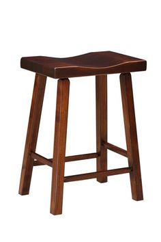 Amish Pine Bar Stool Add a rustic look with a set of backless pine stools. Handcrafted in Amish country. Distressing options available.